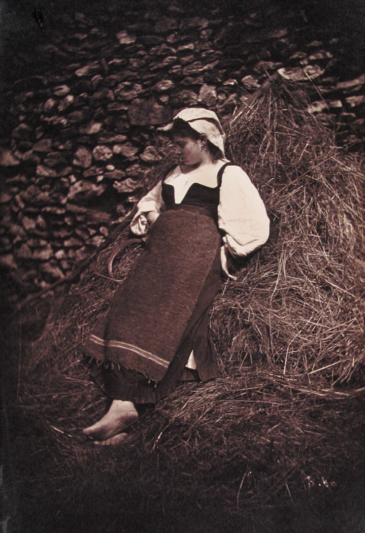 Female Peasant Leaning on Strawpile
