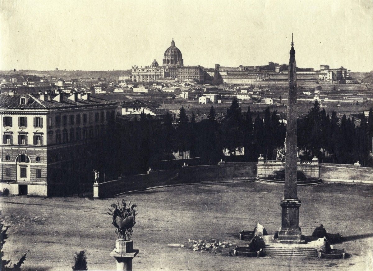 View over the Piazza del Popolo toward the Vatican
